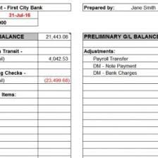 Balance Sheet Account Reconciliation Template Excel Definition