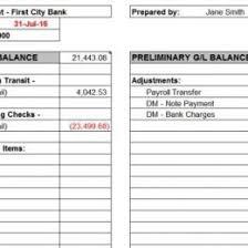 Bank Reconciliation Excel Format Balance Sheet Account Reconciliation Template Excel Definition