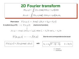 7 2d fourier transform plane wave