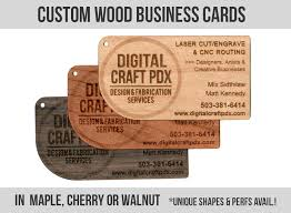 wooden business cards custom wood business cards digital craft design and