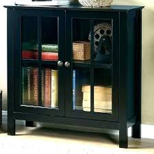 accent cabinet glass doors with rs black 2 r storage