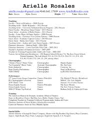 Awesome Collection Of Dance Teacher Resume Sample For Job Summary