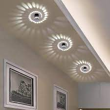 modern swirl led ceiling light warmly
