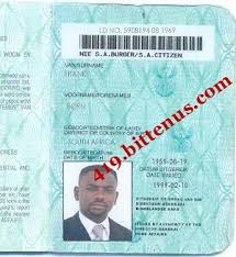 Work Identity Card Drivers License Id Card South Africa