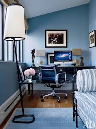 office blue. Contemporary Office/Library By Robert Couturier Inc. In New York, York Office Blue