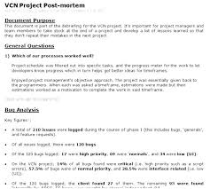 Project Management Post Mortem Template It Post Mortem Template Roberthershey Com