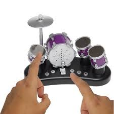 a finger sized drum kit with record and playback capability an ideal gift for drummers