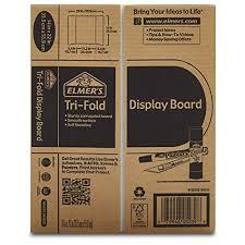 tri fold board size amazon com elmers tri fold display board white 14x22 inch