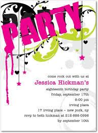 Teenage Birthday Party Inspirational Teen Party Invitations