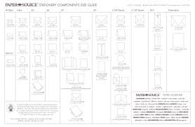 Envelope Size Chart From Paper Source Wedding Invitation