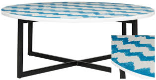 coffee table clipart black and white. a chic conversation piece, the cheyenne coffee table boasts hand-painted artisan look with wavy chevron stripes in blue and white water color effect. clipart black