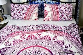 cotton boho mandala indian bed sheet