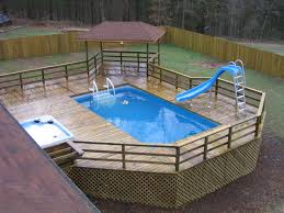 landscaping pictures of above ground pools backyard above with house design