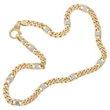 9k two tone gold chain necklace necklaces and pendants from susannah lovis jewellers uk