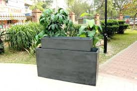 modern outdoor planters large tall resin square