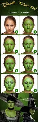 diy disney wicked witch makeup