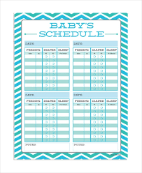 Baby Feeding Schedule 9 Free Word Pdf Psd Documents