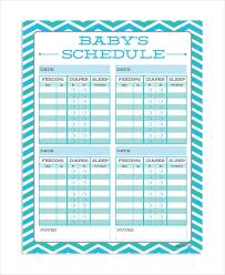 Baby Feeding Schedule 9 Free Word Pdf Psd Documents