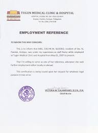 Recommendation Letter For Employment In The Philippines Resume Pdf