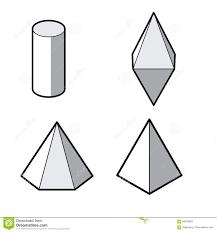 Satz Geometrische Formen 3d Geometrischer Muffin Backform