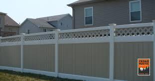 Vinyl Privacy Fence Cedar Rustic Fence Co