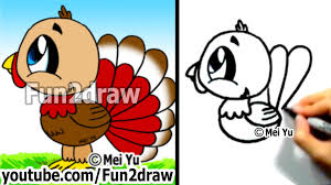 cute thanksgiving turkey drawing. How To Draw Cartoon Turkey For Cute Thanksgiving Drawing