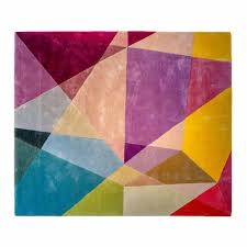 a detailed image of the sonya winner prism vibrant rectangle modern geometric rug showcasing the