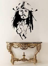 Aliexpress.com : Buy Captain Jack Sparrow Head Cool Wall Decal Poster Vinyl  Wall Mural Sticker Pirates Home Bedroom Art Decoration Removable DIY Q 47  from ...