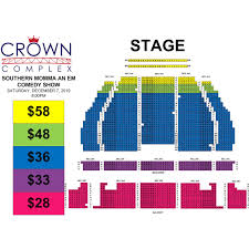 Southern Theater Seating Chart Southern Momma An Em Comedy Show Crown Complex