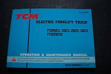 tcm heavy equipment manuals & books for tcm forklift for sale ebay TCM Forklift Parts Diagrams tcm fcb 15 20 25 30 forklift owner operator maintenance manual book truck 1997
