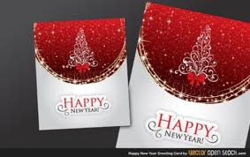Free Download Cards Shiny Greeting Card Happy New Year Vector Free Download
