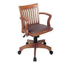 vintage office chair.  Vintage Office Star Deluxe Wood Bankers Desk Chair With Brown Vinyl Padded Seat  Fruit To Vintage H