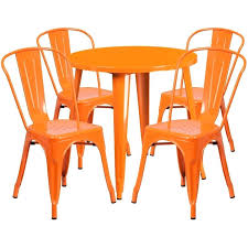cafe table set catchy outdoor cafe chairs with round orange metal indoor outdoor table set with cafe table set