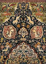 tabriz style animal carpet victoria and albert museum