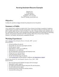 example resume nursing assistant  vosvetenet