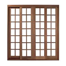 As portas de correr em madeira e vidro são ideais para separar a sala de jantar/estar com a cozinha ou corredor. Porta De Correr Reta Quadriculada De Madeira 4 Folhas Madel