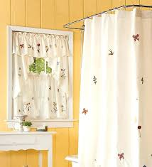 awesome white shower curtain with matching window valance pretty short bathroom curtains best window treatments for