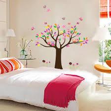 Owl Bedroom Decor Kids New Arrival Children Room Decoration Wall Sticker Tree Owl Happy
