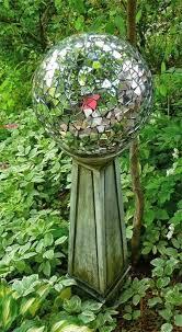 Decorating Bowling Balls Marbles Beauteous Homemade Gazing Ball Using An Old Bowling Ball Garden Art