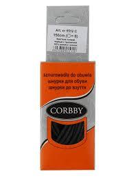 <b>Шнурки Corbby</b> тонкие 5512 черные 150 см - Сеть спортивных ...