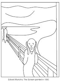the scream coloring sheet. Exellent Scream Munch  The Scream Print Coloring Page To Scream Coloring Sheet C