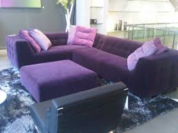 ... Beautiful Purple Microfiber Sectional Sofa Also Purple Sofas Living  Rooms Ion Green Velvet Tufted Couch ...