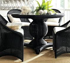 Dining Table Rattan Round Dining Table Base Wicker Chairs Set