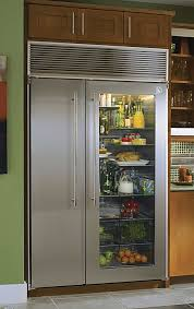 Glass Front Fridge. I need this for my husband who just stands infront of  the