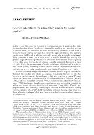 science education for citizenship and or for social justice pdf science education for citizenship and or for social justice pdf available