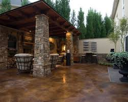 stained concrete patio before and after. Home Exterior Remodel Before And After Patio Cover. Stained Concrete Design Ideas, I
