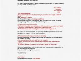 Letter To Landlord Requesting Repairs Template
