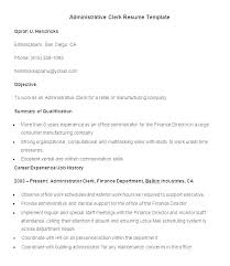 Clerical Resume Templates Mesmerizing Sample Clerical Resumes Resume Template Professional Templates