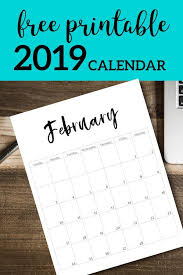 Free Printable 2019 Calendar Template Pages Templates