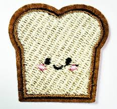 Bread Embroidery Design Mini Bread Face Food Breakfast Cartoon Patch Jacket Polo T Shirt Hat Backpacks Applique Embroidered Sew Iron On Patch Handmade Fashion Embroidery